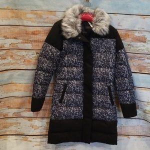 FABLETICS brand S Black/Gray Long Puffer Jacket!